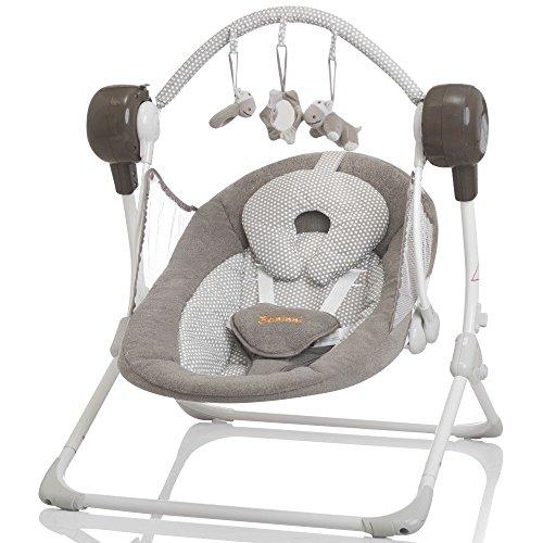 Elektrische Automatische Babyschaukel BANINNI Stellino Automatik Baby Wiege (Sandy Dots)