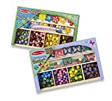 : Melissa & Doug Butterfly and Flower Make-Your-Own Jewelry Set of 2 With 300+ Wooden Beads
