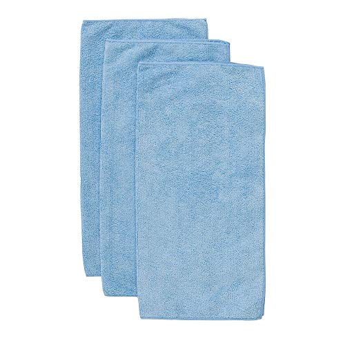 John Ritzenthaler Co Chef Revival MF100BL Blue 16 x 16 Microfiber Towel - 6 / PK