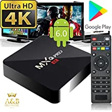 2017 MXQ Pro 4k by A&B Solutions Inc. Android 6.0 TV Box 64 Bit Quad Core RK3229 1GB DDR3 8GB ROM (60Hz) / 4K Full HD / HDMI / H.265 / USB / WiFi 2.4GHz / Ethernet