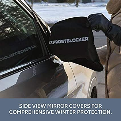 | Protects from Snow Ice and Frost 2 Pack Fits Most Cars FROSTBLOCKER Winter Windshield and Mirror Covers Mid-Size SUVs and Minivans