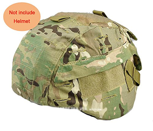 (H World Shopping Tactical Airsoft Military MICH 2000 Ver2 Helmet Cover with Back Pouch (MC))