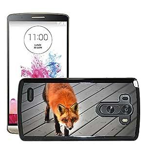 Super Stella Slim PC Hard Case Cover Skin Armor Shell Protection // M00145603 Red Fox Wild Animal Nature Qu??bec // LG G3 VS985