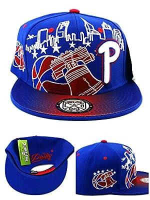 Philadelphia New Leader Philly Skyline Phila Liberty Bell Blue Red Era Snapback Hat Cap