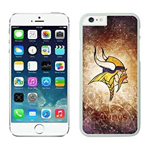 NFL iPhone 6 Plus 5.5 Inches Case Minnesota Vikings White iPhone 6 Plus Cell Phone Case ONXTWKHC2565