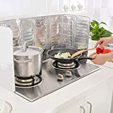 FEOOWV 2PCS Removable Scald Oil Gas Stove Guard Board Cooking Frying Oil-Proof Splash Kitchenware Tool
