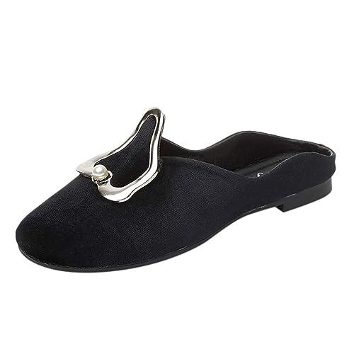 Mule de Mujer KanLin1986 Alpargatas Sandalias de Planas de Mujer Mocasines Zuecos Zapatos de Verano Beach Slippers Sandalias de Fiesta: Amazon.es: Zapatos y ...