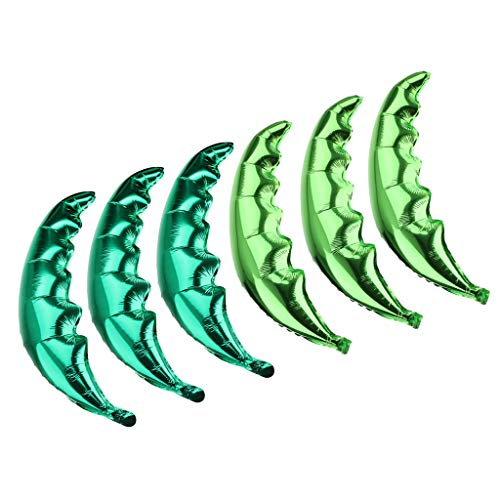 SM SunniMix Pack of 6pcs Palm Tree Leaf Green Hawaiian Beach Party Balloon Wedding Decor -