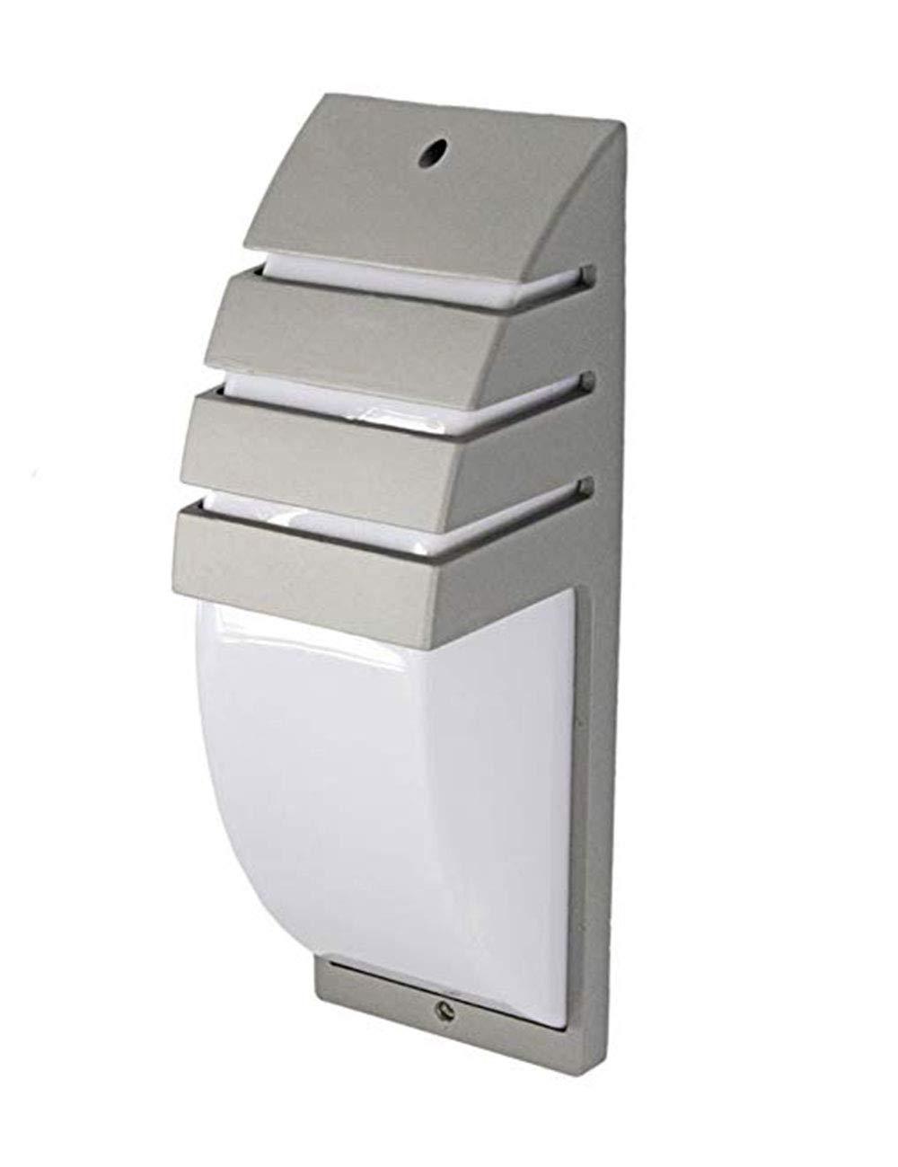 Vetrineinrete/® Applique a parete per esterno lampada da giardino terrazzo luce da muro moderna e27 es27 grigio B42
