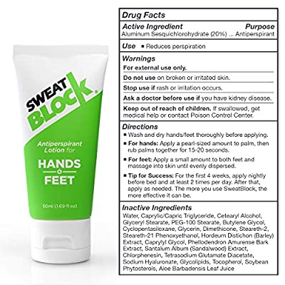 SweatBlock Hands & Feet Lotion