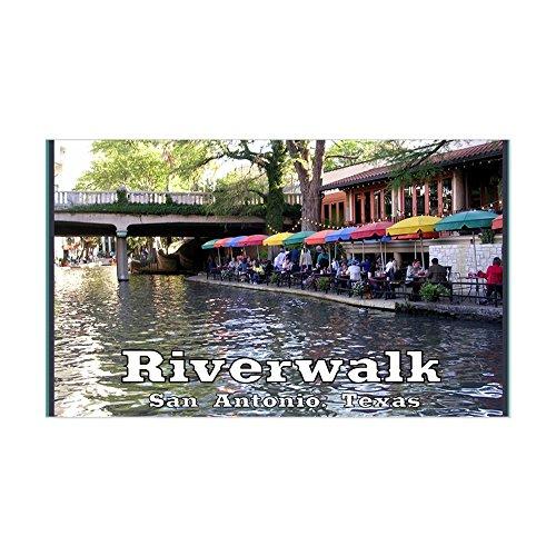 CafePress - Riverwalk, San Antonio,TEXAS Sticker (Rectangle) - Rectangle Bumper Sticker Car - San Shopping Riverwalk Antonio