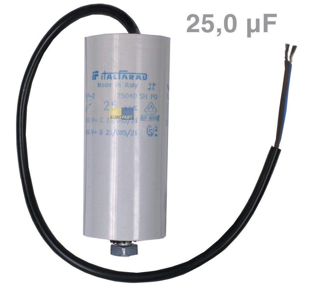 Condensador 25µF 450 V, con cable de conexión lavadora: Amazon.es ...