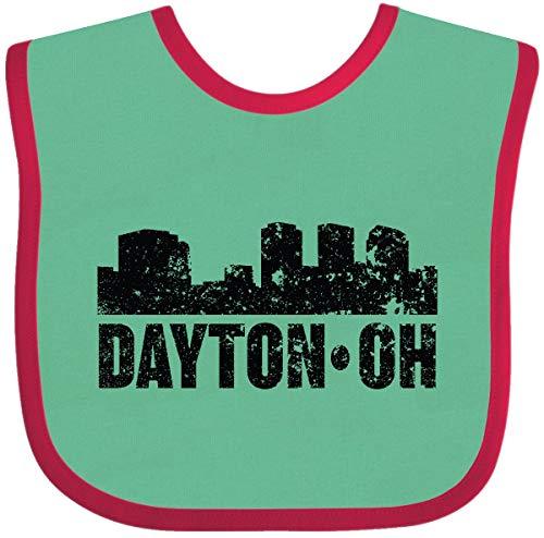 Inktastic Dayton Skyline Grunge Baby Bib Green and ()