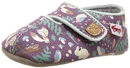 See Kai Run Girls' Cruz CRB Crib Shoe, Purple Woodland, M