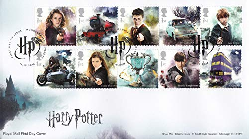 Harry Potter Stamp Souvenir Collectible Postage Stamp First Day Cover Cachet Royal Mail 2018