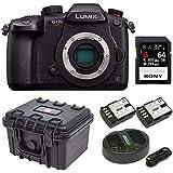 Panasonic GH5 Lumix C4K Mirrorless Camera with 32GB SD Card and Hard Case Bundle