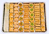 Assorted Baklava Dessert Pastries, 4 LB. (63 Piece) Variety Box - All Natural Premium Quality Sweets - By Pistachios Delights