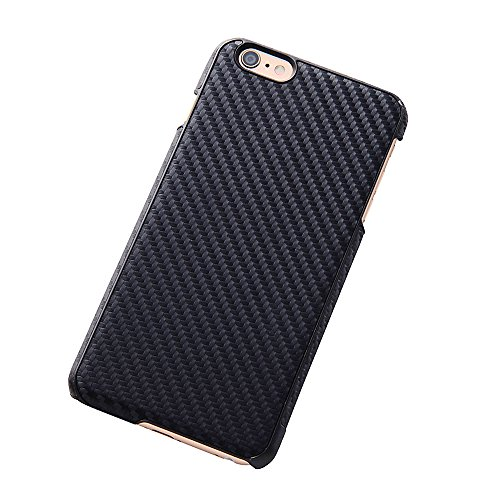 Open Type Texture Leather Style Jacket for iPhone 6 Plus (Carbon Black)