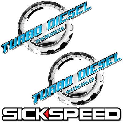 Amazon.com: 2 Pc Teal/Chrome Turbo Diesel Engine Motor Badge For Trunk Hood Door Tailgate for Audi 5000: Automotive