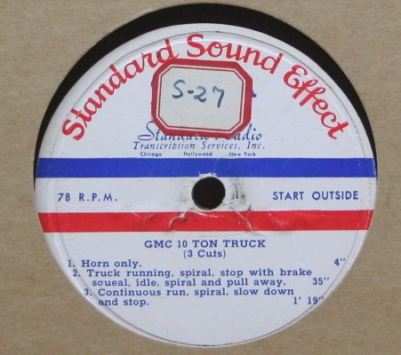 Sound Effects - GMC 10 Ton Truck b/w Diesel Truck and