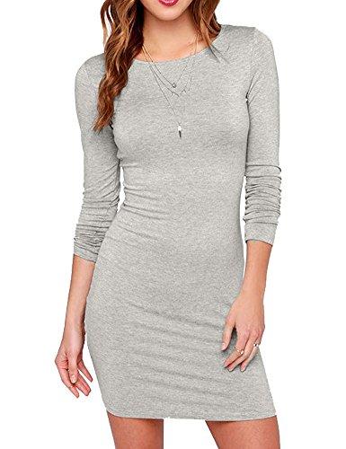 asual Long Sleeve Short Dress Mini Dress L MultiGrey ()