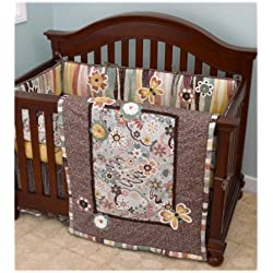 Cotton Tale Designs 4 Piece Penny Lane Crib Bedding Set Butterfly
