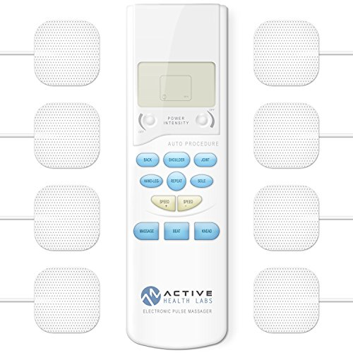 Active Health Labs TENS Electronic Pulse Massager - Therapeutic Pain Relief - Electrotherapy Back, Shoulder and Neck Pain Management - Muscle Stimulator