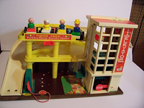 Vintage 1970's Fisher Price Little People Parking Garage #930
