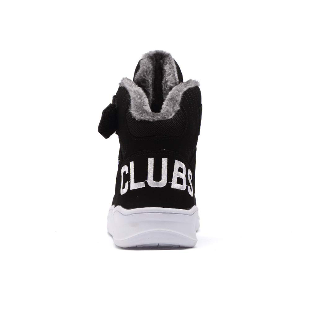 GLSHI Mens Fashion Sneakers Autumn and Winter High Lining Lovers Shoes Outdoor Warm Cotton Boots
