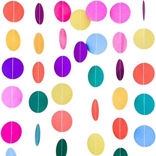 Bobee Rainbow Guirnalda de Papel Decoraciones de Fiesta, Niña de Cumpleaños, Fiesta serpentinas