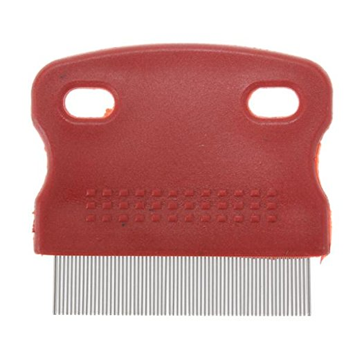 MECOTM-Toothed-Flea-Comb-Cat-Dog-Pet-Grooming-Steel-Small-Brush-Random-Color