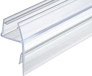 gedotec Junta 180 ° Junta para duchas, 10 – 12 mm puerta de cristal de repuesto para cristal de ducha divisores – Cabinas de ducha (PVC, transparente, 200 cm: Amazon.es: Bricolaje y herramientas