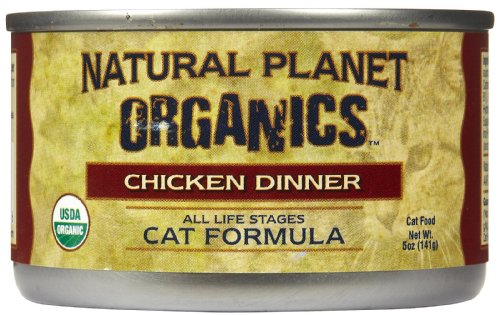 Natural Planet Organics Chicken Dinner for Cats, Case of 12/