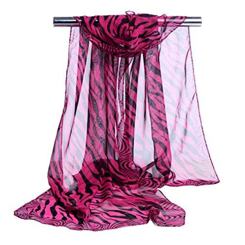 Tuscom Fashion Stripe Chiffon Scarf 63 19 6