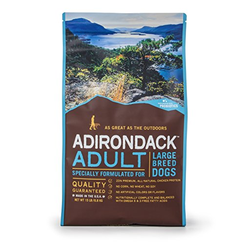Adirondack Pet Food 22470 Adult Specially Formulated For Large Breed Dogs, 15Lb. (Adirondack Dog)