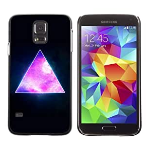 Licase Hard Protective Case Skin Cover for Samsung Galaxy S5 - Awesome Hipster Galaxy Triangle