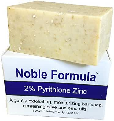 Noble Formula 2% Pyrithione Zinc (ZnP) Bar Soap 3.25 oz – Hand Crafted in the USA, Especially Formulated for Those with Psoriasis, Eczema, Dry and Sensitive Skin