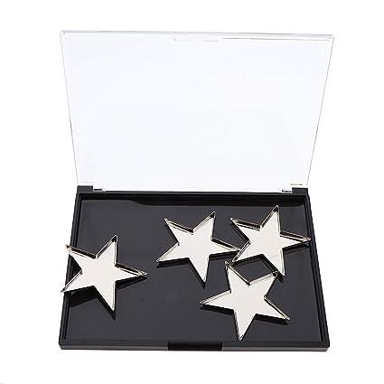 IPOTCH Portátil Paleta Maquillaje Vacía con Piezas Sartenes Diferentes Formas - Sartenes estrella