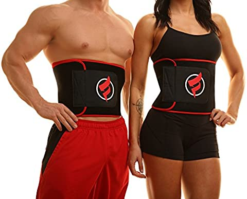 Fitru Waist Trimmer Weight Loss Ab Belt For Women & Men - Waist Trainer Stomach Wrap (red, 9