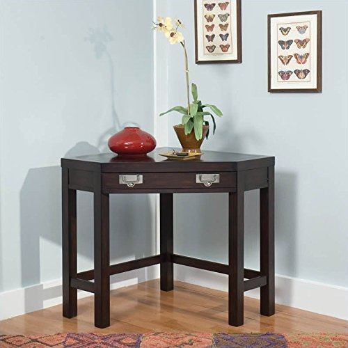Home Styles 5536-17 City Chic Corner Laptop Desk, Espresso Finish -