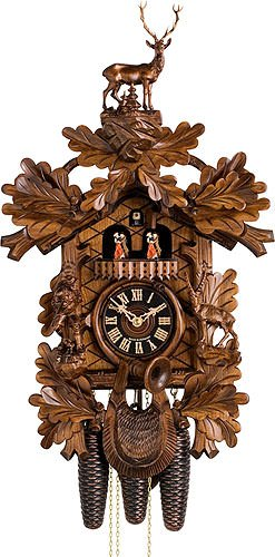 German Cuckoo Clock 8-day-movement Carved-Style 24.50 inch - Authentic black forest cuckoo clock by ()