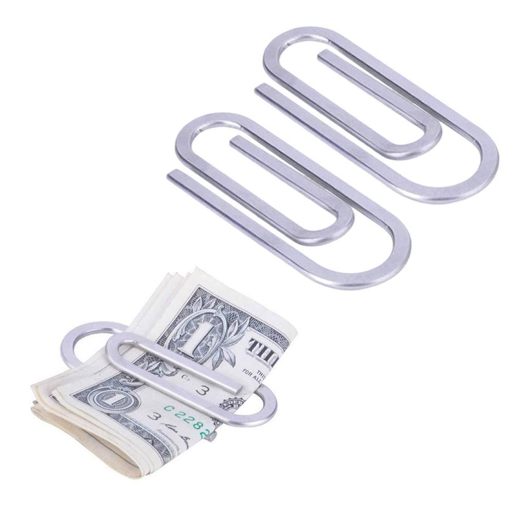 Vosarea tarjetas de cr/édito 2 clips de acero inoxidable para billetes
