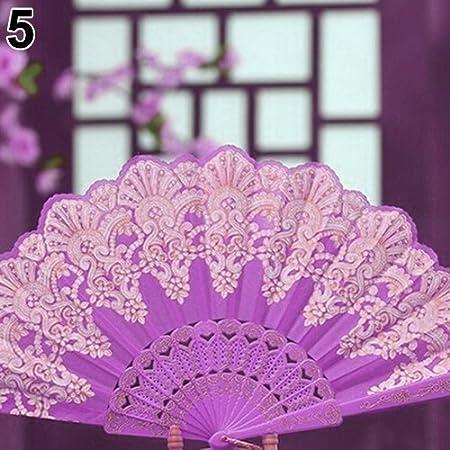 good01 Big Promotion Ethnic Style Dance Party Wedding Golden Tone Hand Held Flower Folding Fan Black Hot Stamping Fan Chinese Style Dance Fan