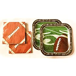 Football Tailgate Party Plates (28) and Napkins (40)