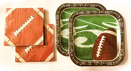 Football Tailgate Party Plates (28) and Napkins (40) by Greenbrier (Image #1)