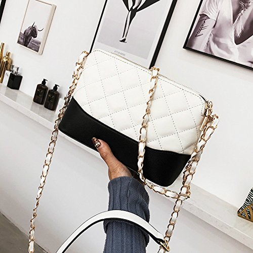 Gwqgz Women's Chain Handbag Simple Bags Shoulder Quality Handbags Bag Fashion Designer Lattice 2018 Leather High Pu New Women rrBwxqUZd