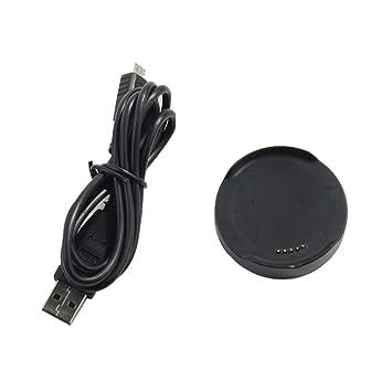 Prom-near Portátil Cargador de Carga Dock Cradle Docking Station USB Charger Charging Cable Base para LG G Watch W100 / W110 / W150 Reloj Inteligente ...