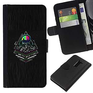 NEECELL GIFT forCITY // Billetera de cuero Caso Cubierta de protección Carcasa / Leather Wallet Case for LG G2 D800 // Psychedelic Ciber Astronauta