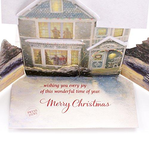 Hallmark Christmas Greeting Card with Light and Song Card (Displayable Dimensional Thomas Kinkade House) Photo #6