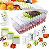 Vegetable Slicer Sboly Vegetable Chopper Spiralizer Mandoline Slicer Multi Blades for Onion Chopper Fruit Cutter